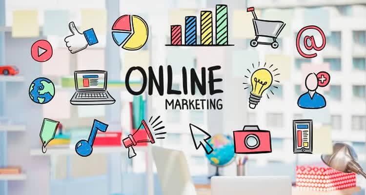 Плакат онлайн маркетинга