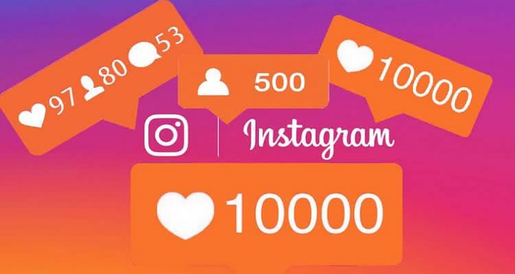 Инстаграм и цифры 10000