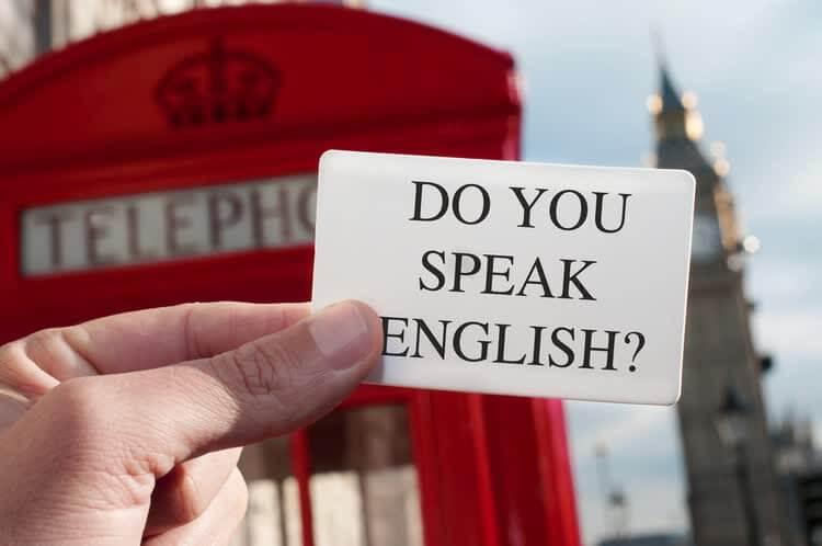 Карточка с надписью do you speak english