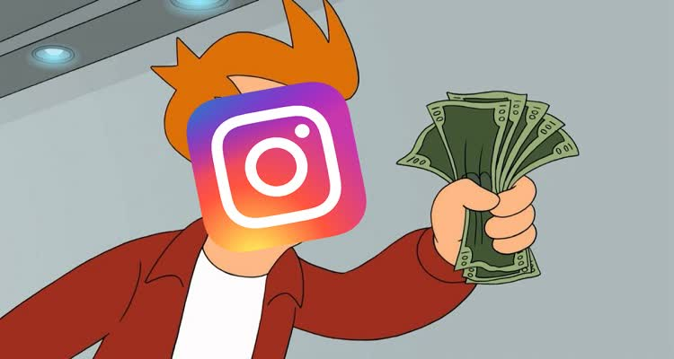 Персонаж из мультфильма с деньгами