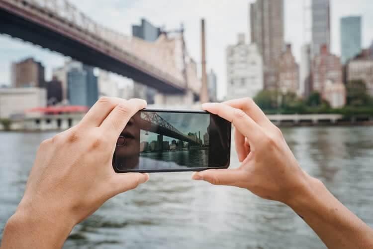 Съемка моста на смартфон